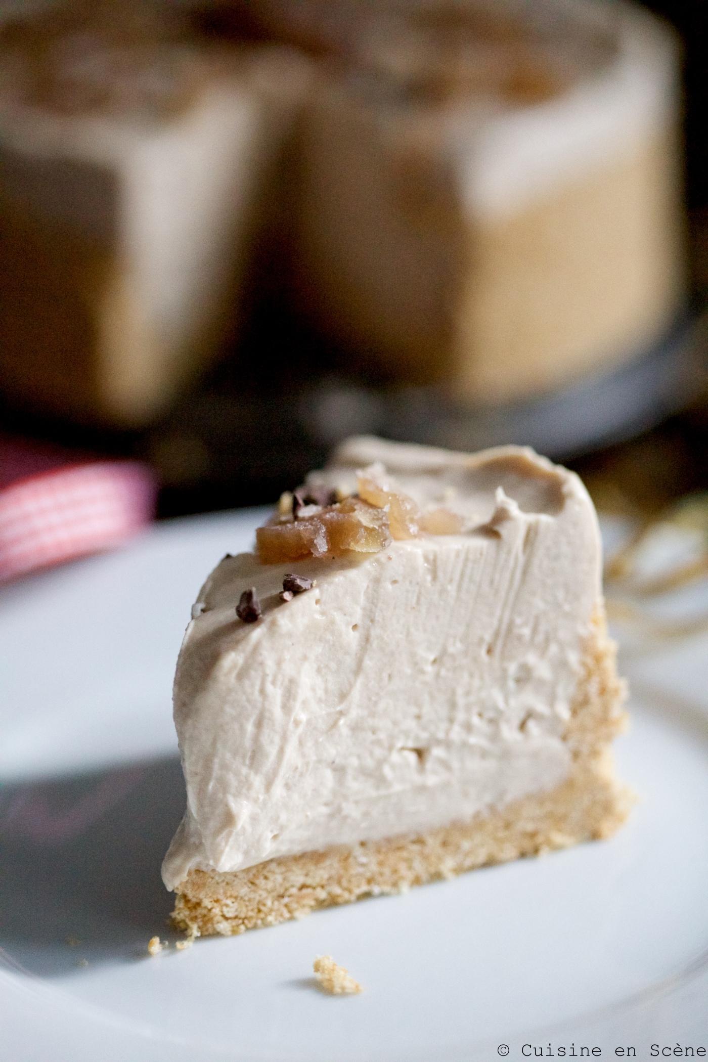 Cheesecake sans cuisson aux marrons