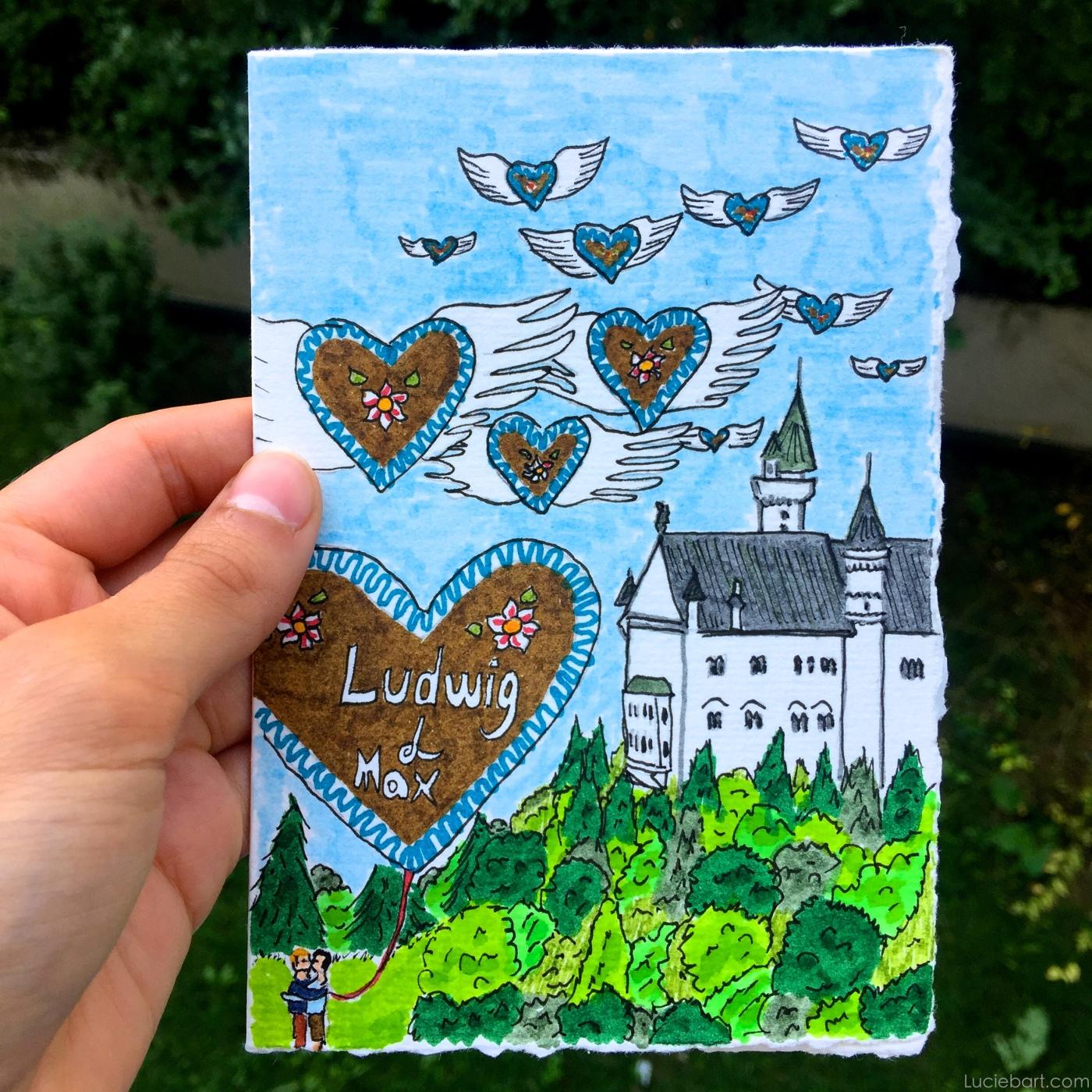 Ma carte de voeux faite main pour mes amis