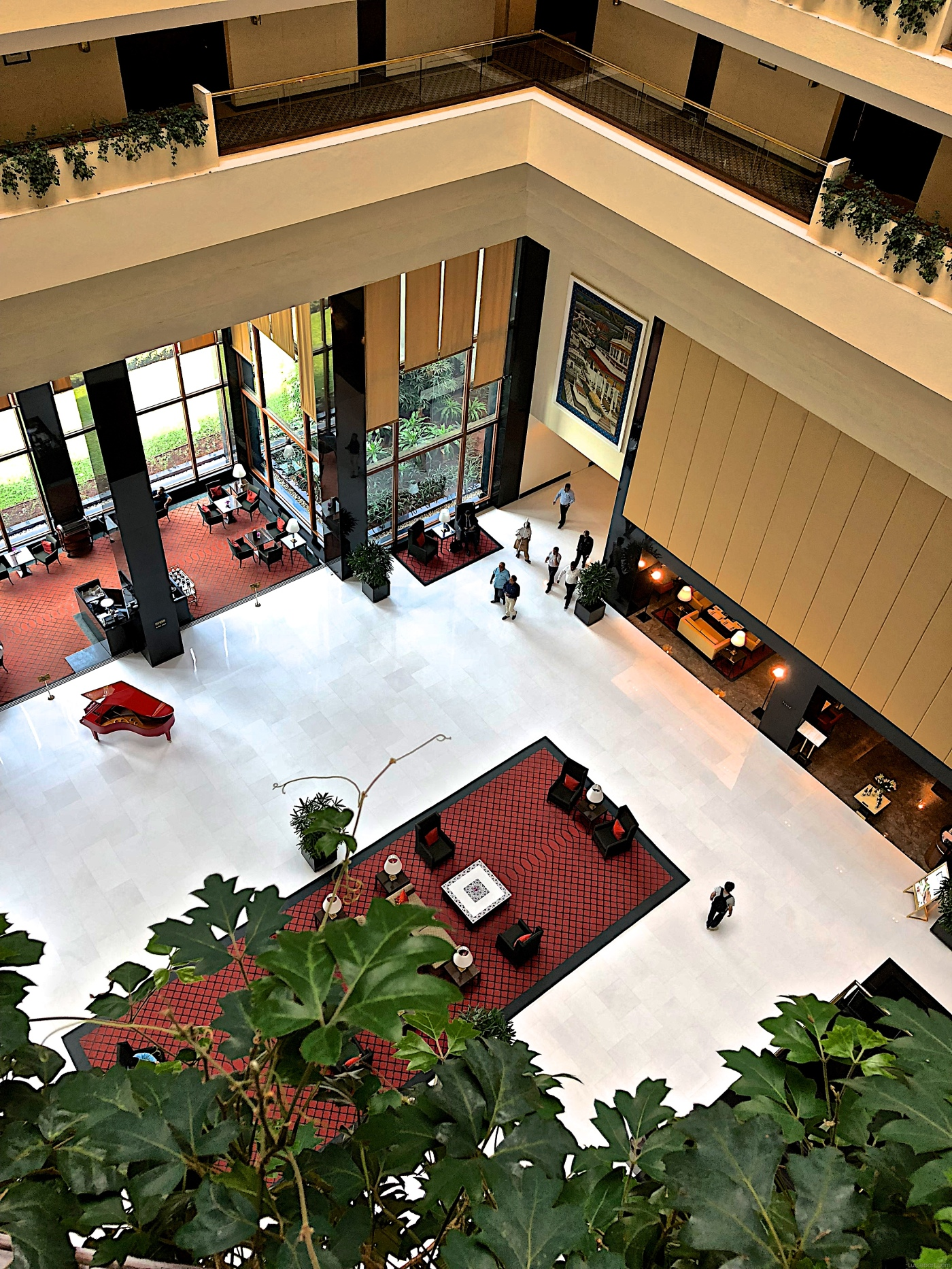 Lobby de l'hôtel Oberoi à Mumbai