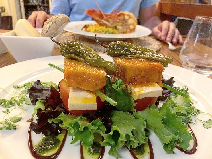 Salade végétarienne, La Ricotta, Porto